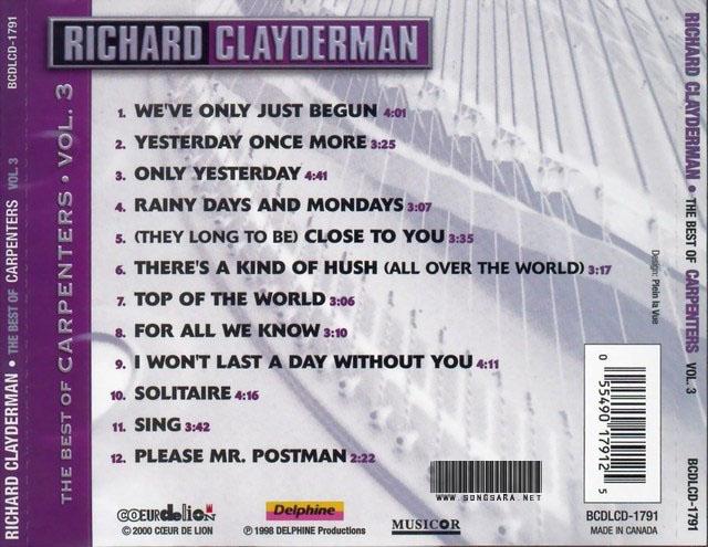 http://dl.songsara.net/instrumental/Album/Richard%20Clayderman_The%20Best%20of%20Carpenters%20(1998)%20SONGSARA.NET/Back.jpg